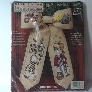 VINTAGE #8508 Debbie Mumm Cross Stitch Kit Bow